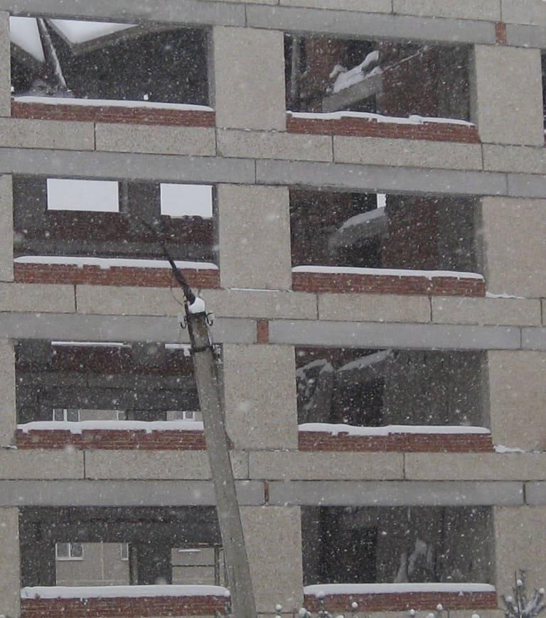 Обвалилось несколько этажей