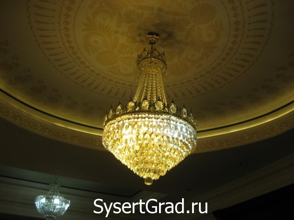 Люстра ресторанно-гостиничного комплекса Смирнов