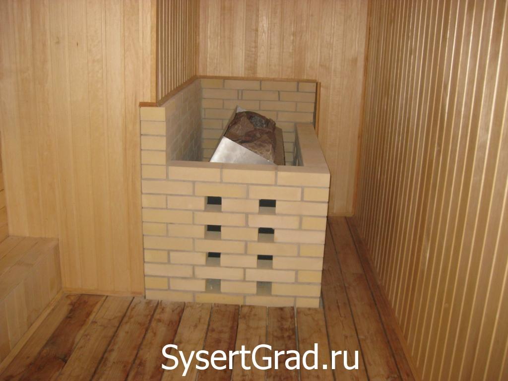Obogrev sauny restoranno-gostinichnogo kompleksa Smirnov