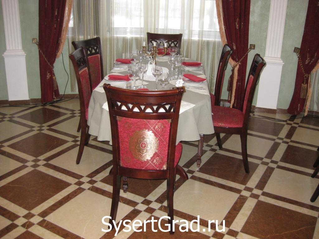 Русский зал оформление стола