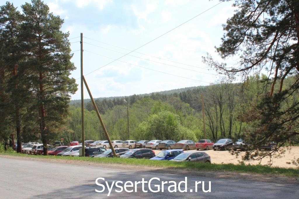 Парковка для посетителей Талькова камня