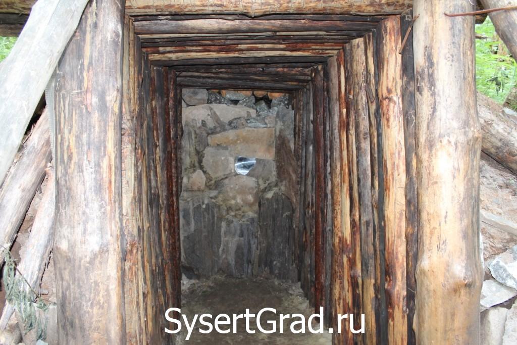Шахта по дороге на Тальков камень оказалась не настоящей