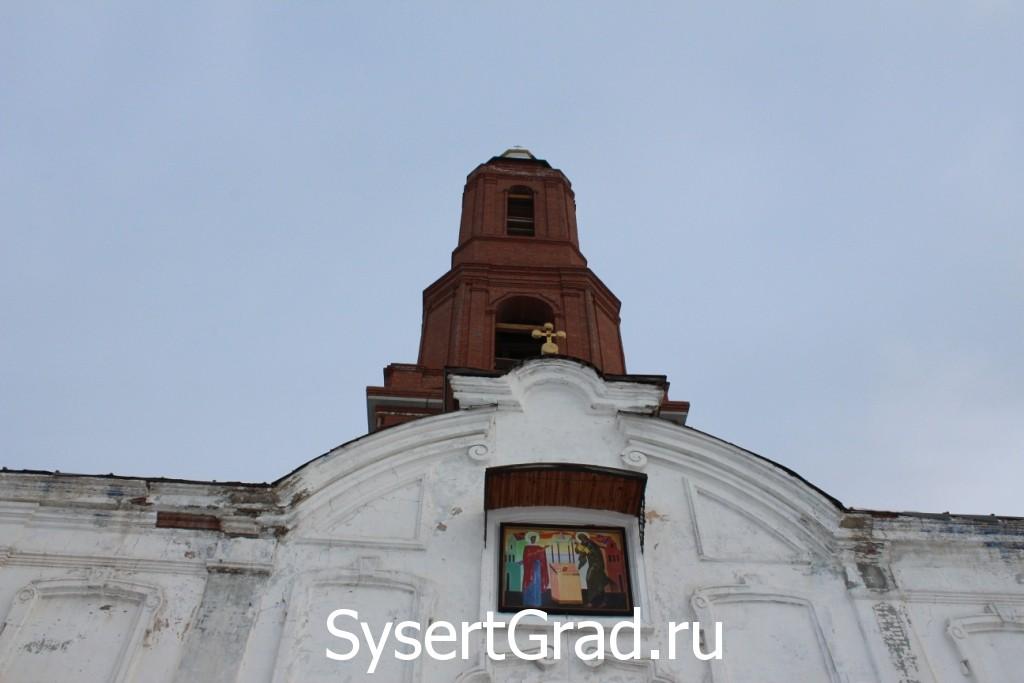 Восстановленная колокольня храма во имя Симеона Богоприимца и Анны пророчицы