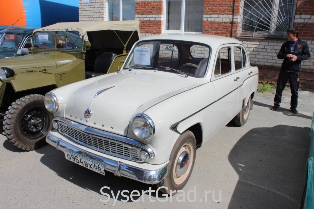Москвич 403 на выставке ретро автомобилей