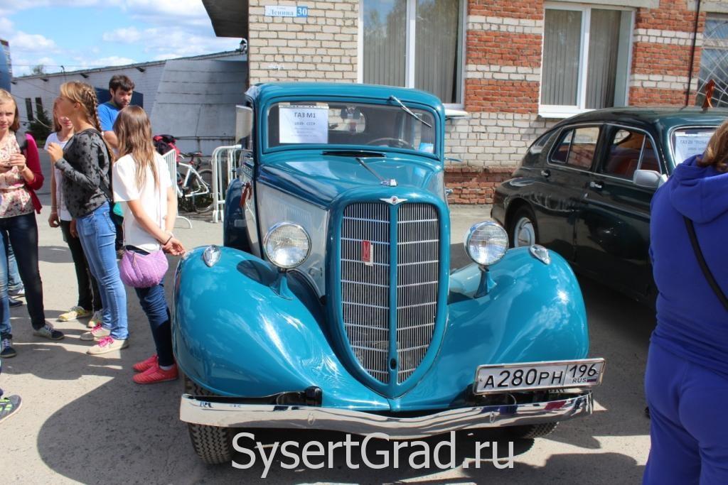 Выставка ретро автомобилей ГАЗ М1 в Сысерти