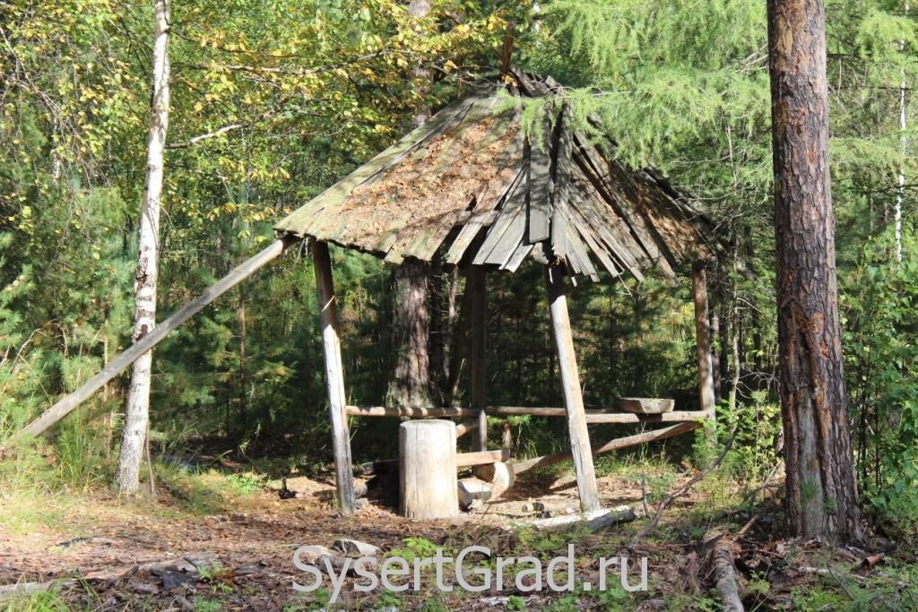 Беседка в лесу возле поселка Северка
