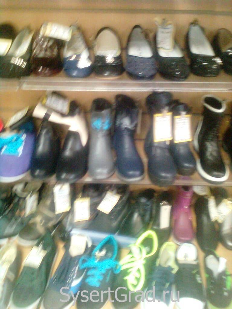 Обувь в магазине Теремок