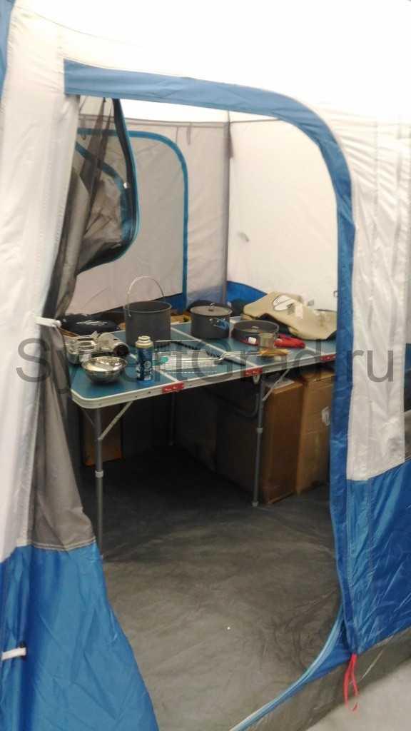 Палатка из Декатлона, образец обустройства. Мне понравилось