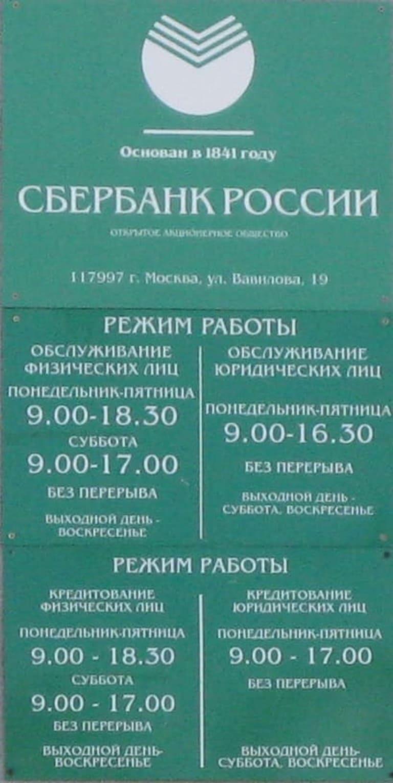Часы работы Сбербанка в Сысерти