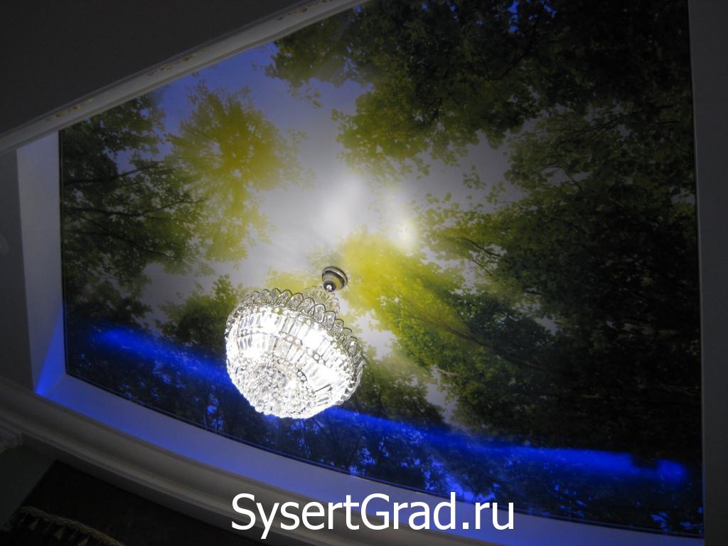 Русский зал оформление потолка