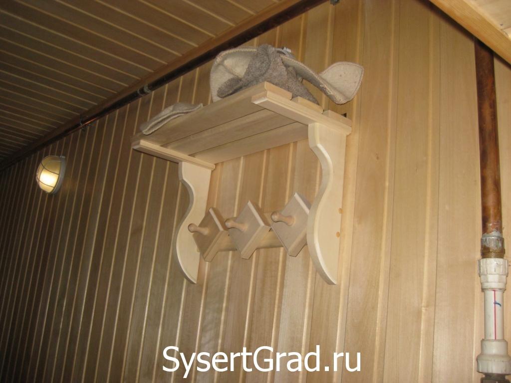 Veshalka sauny restoranno-gostinichnogo kompleksa Smirnov