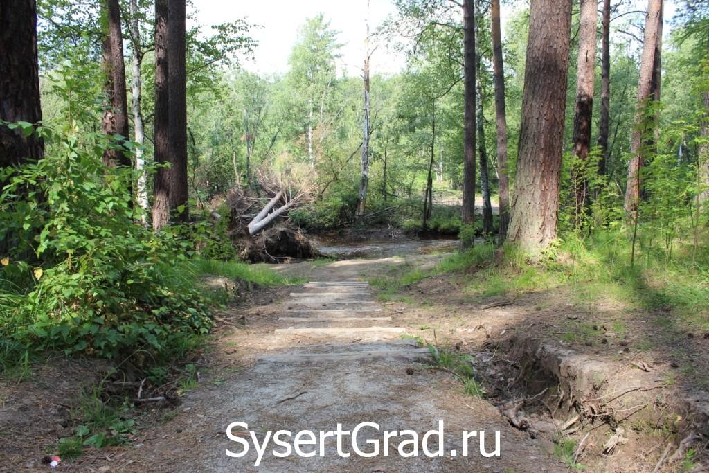 Спуск к реке по дороге на Тальков камень