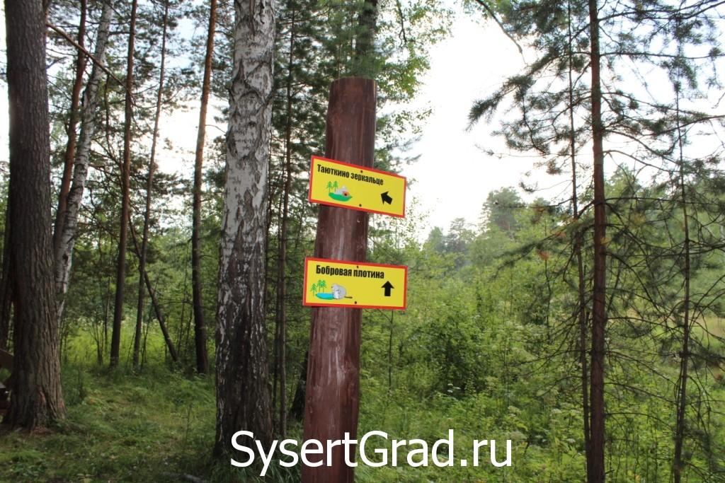 Указатели по дороге на Тальков камень