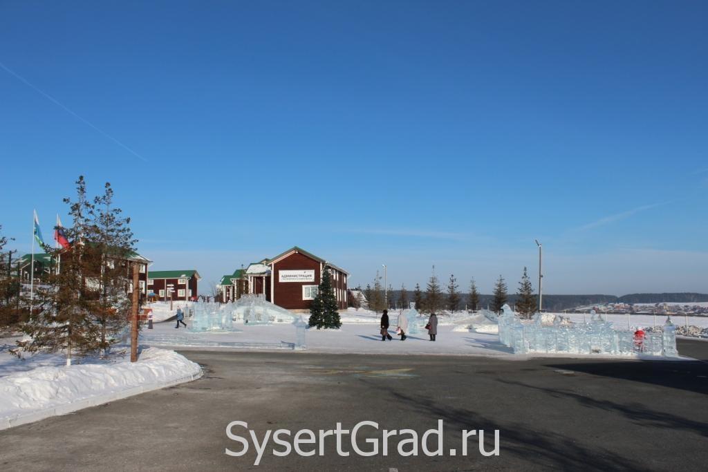 Ледовый городок в КСК Белая Лошадь