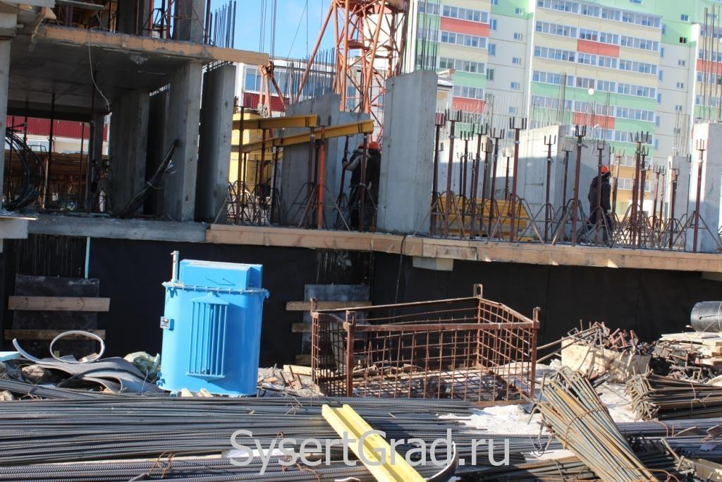 Стройка в Сысерти на 14 февраля 2015 года