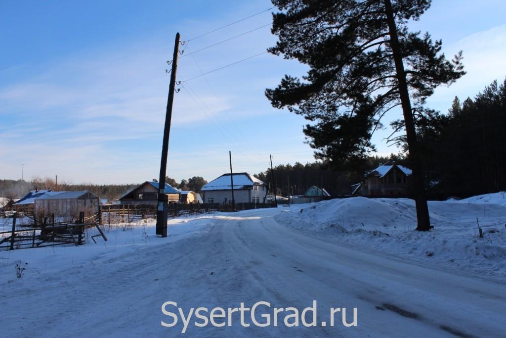 Въезд в поселок Школьный со стороны Уралгидромаша
