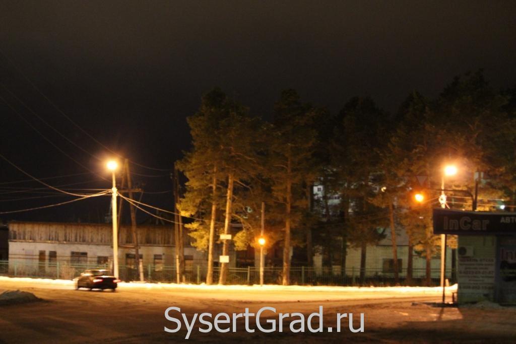 Перекресток улиц Самстроя и Коммуны в Сысерти