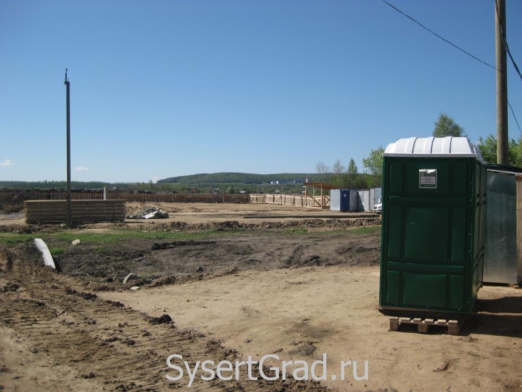 Стройка  нового садика в Большом Истоке