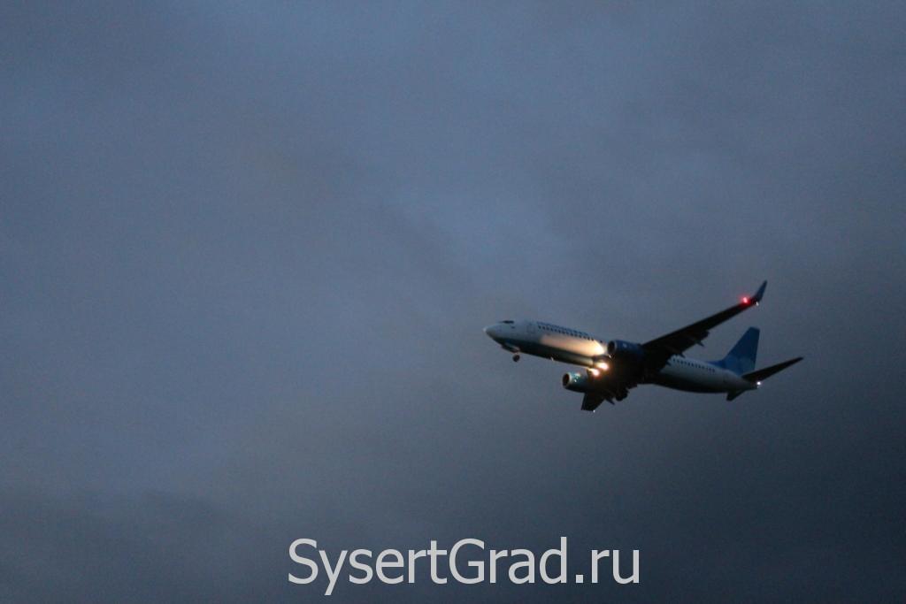 Посадка самолета в Кольцово