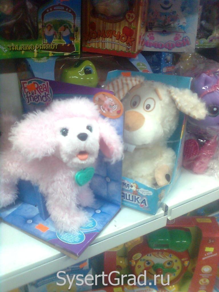 Игрушки в магазине Теремок