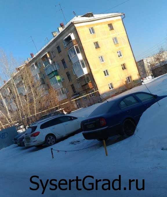Огороженные парковочные места в Сысерти