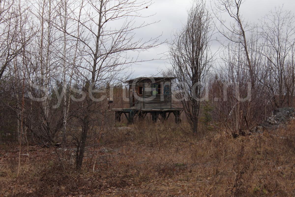 Железнодорожная будка на комбинате